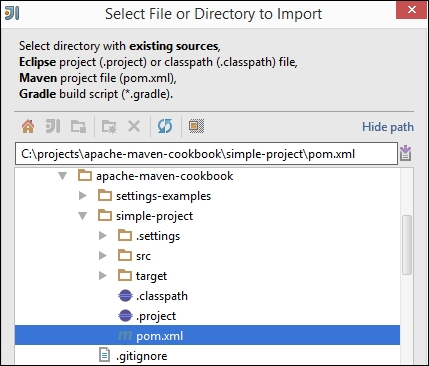 Importing an existing Maven project in IntelliJ IDEA - Apache Maven