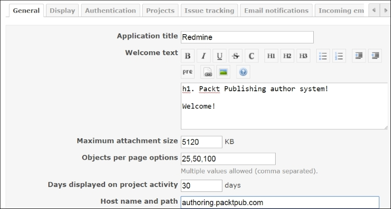 Customizing the layout of the home page - Redmine Cookbook