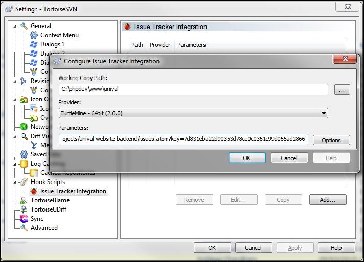 Integrating with Tortoise SVN or GIT - Redmine Cookbook