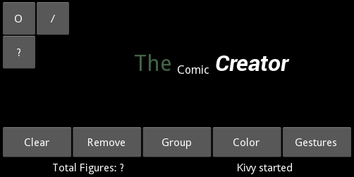 Our project – Comic Creator - Kivy - Interactive