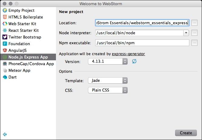 Express - WebStorm Essentials