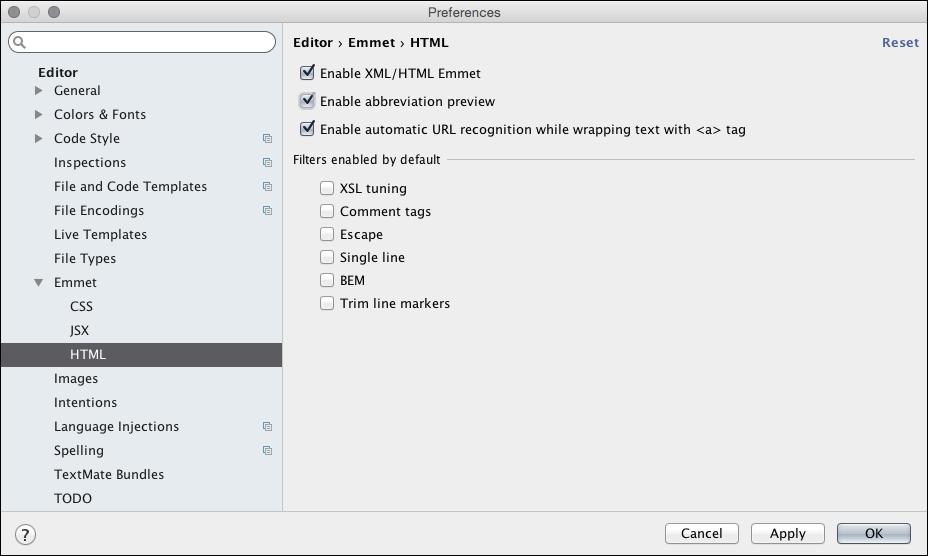 Working with Emmet - WebStorm Essentials