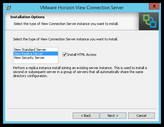 Installation of View Connection Server 6 0 - VMware Horizon View