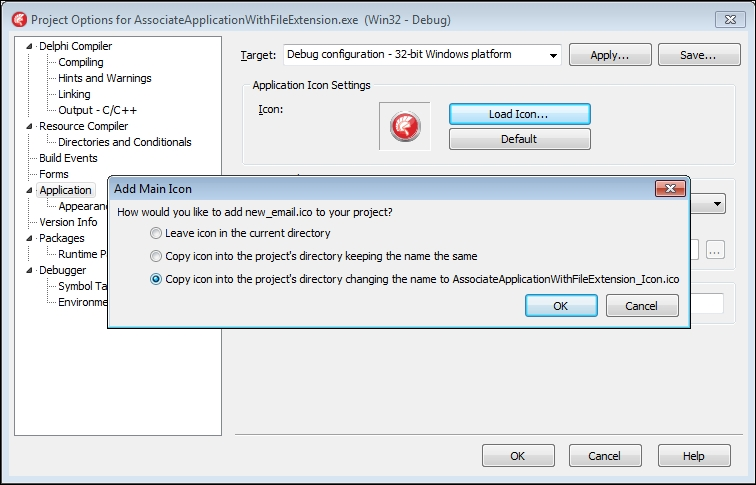Associating a file extension with your application on Windows