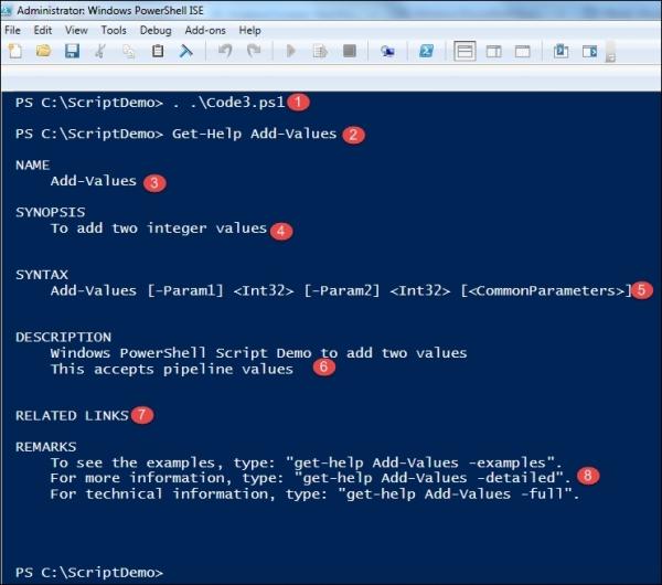 Using an interactive shell - Windows PowerShell for  NET