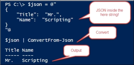Exploring JSON - Windows PowerShell for  NET Developers