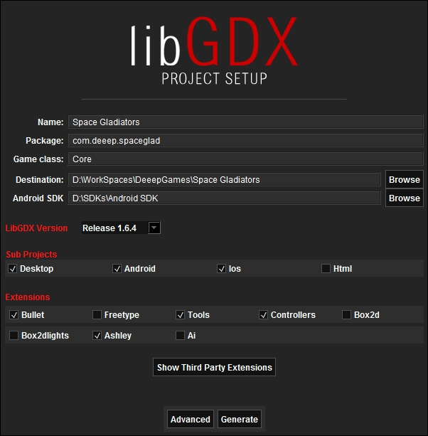 LibGDX project setup - Building a 3D Game with LibGDX