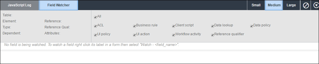 Working with Field Watcher - ServiceNow Cookbook
