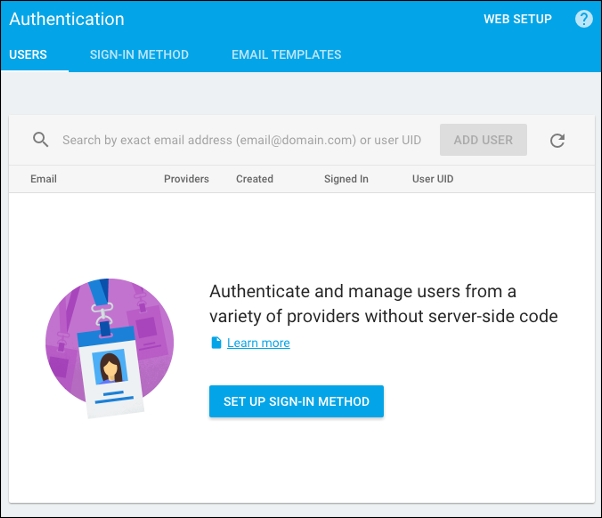Enabling authentication provider - Web Development with Bootstrap 4
