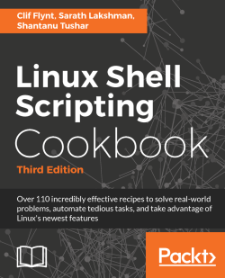 Displaying output in a terminal - Linux Shell Scripting Cookbook