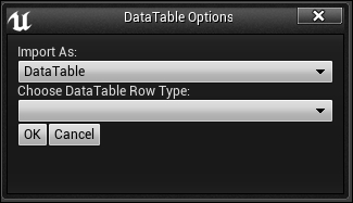 Creating the data table asset - Mastering Unreal Engine 4 X