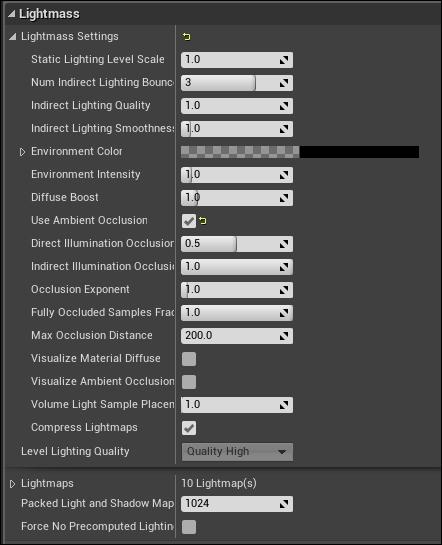 Lightmass settings - Mastering Unreal Engine 4 X