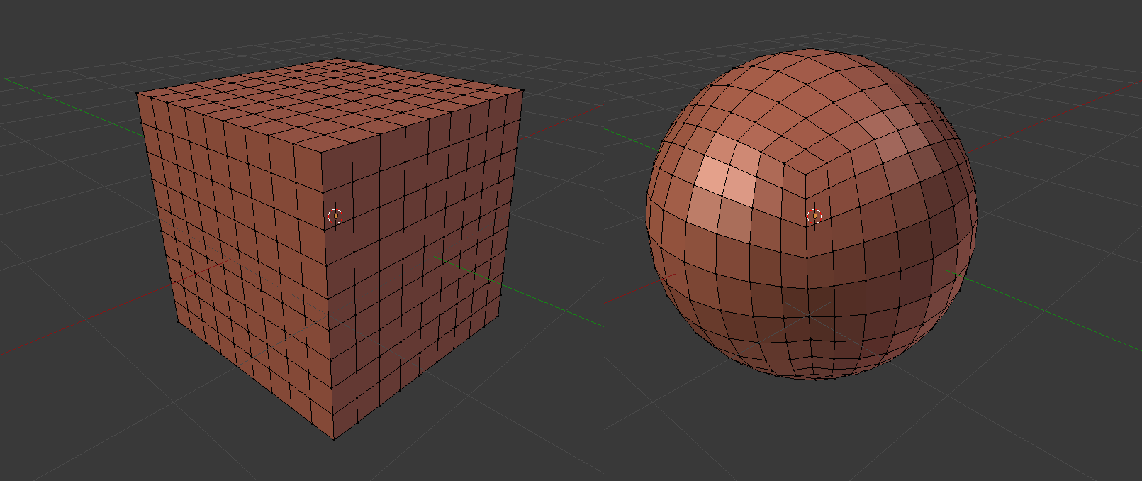 Using Blend Shapes to morph an object into another one