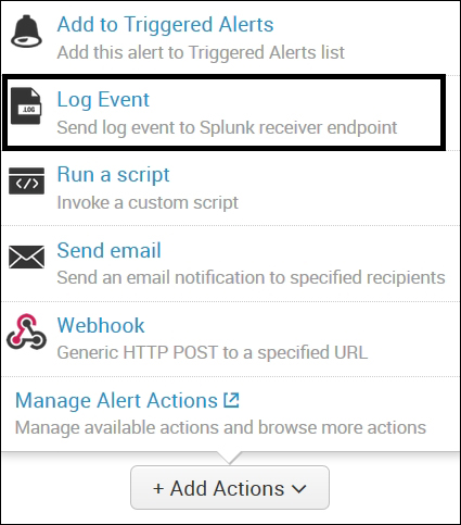 Enhanced alert actions - Advanced Splunk