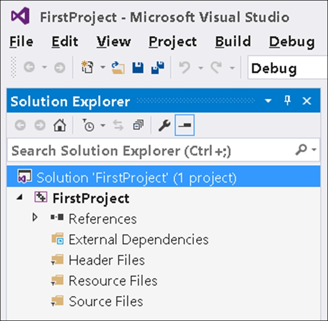 Creating and building your first C++ project in Visual