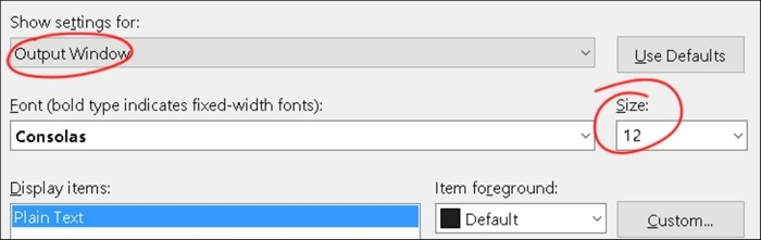 Changing the code font and color in Visual Studio - Unreal