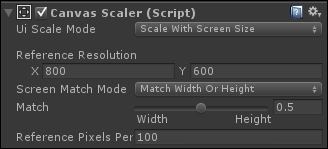 Resizing the UI according to the screen size and resolution