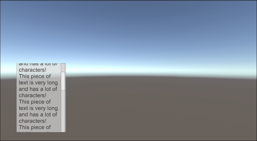 Making text scrollable with a vertical slider - Unity UI