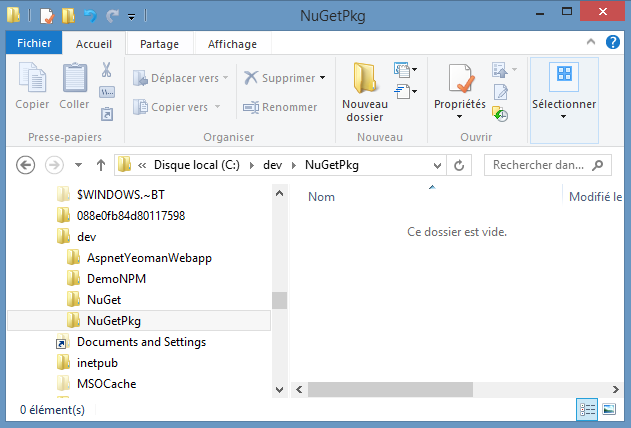 Creating a local NuGet repository and consuming packages