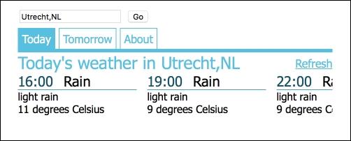 A Weather Forecast Widget with Angular 2 - TypeScript Blueprints