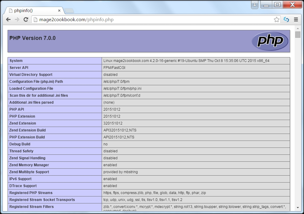 Installing PHP-FPM - Magento 2 Cookbook