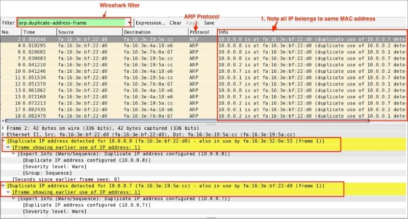 ARP duplicate IP detection - Packet Analysis with Wireshark