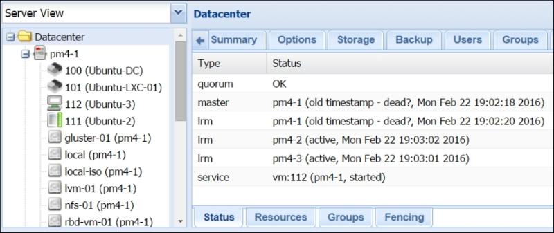 Testing Proxmox HA configuration - Mastering Proxmox - Second Edition