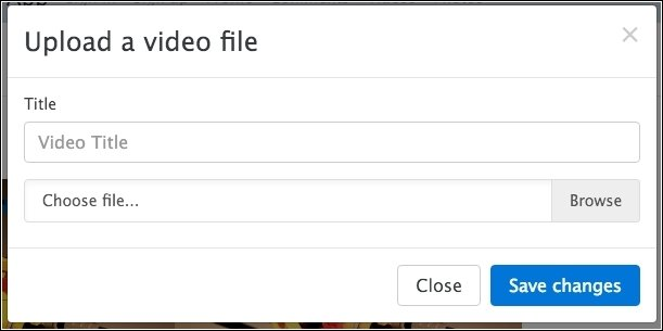 Inserting video files into the application using the upload form