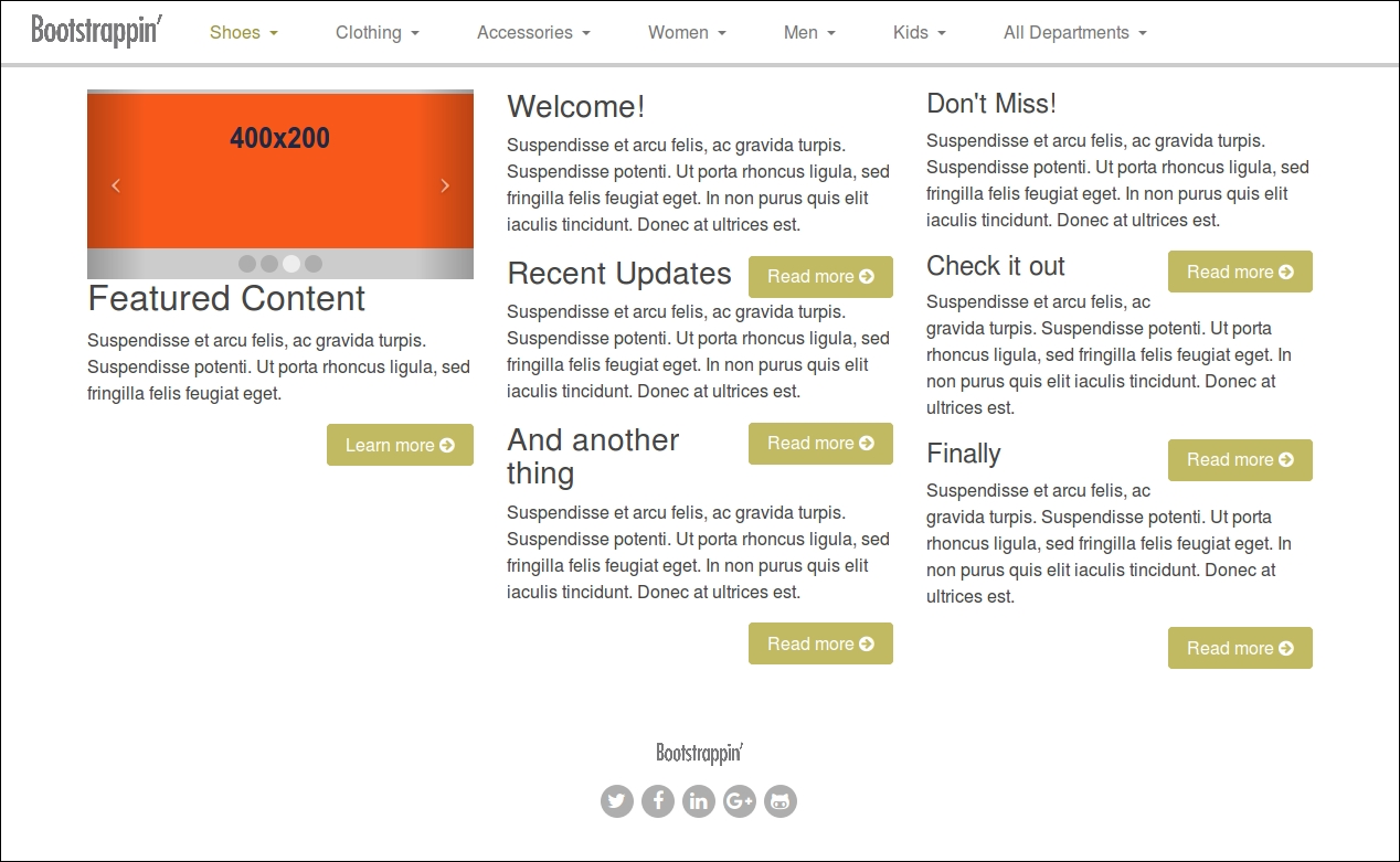 Setting up the basics of your design - Bootstrap 4 Site