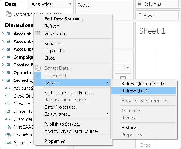 Refreshing Tableau data extracts - Tableau 10 0 Best Practices