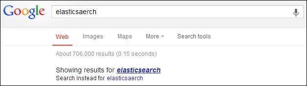Correcting user spelling mistakes - Mastering Elasticsearch
