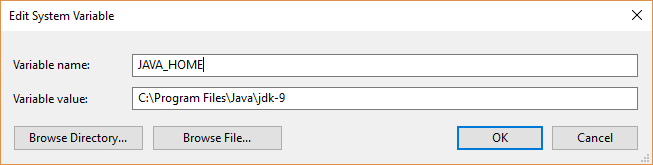 Installing JDK 9 on Windows and setting up the PATH variable - Java