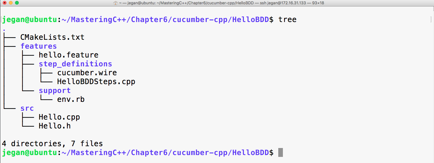 Writing our first Cucumber test case - Mastering C++ Programming