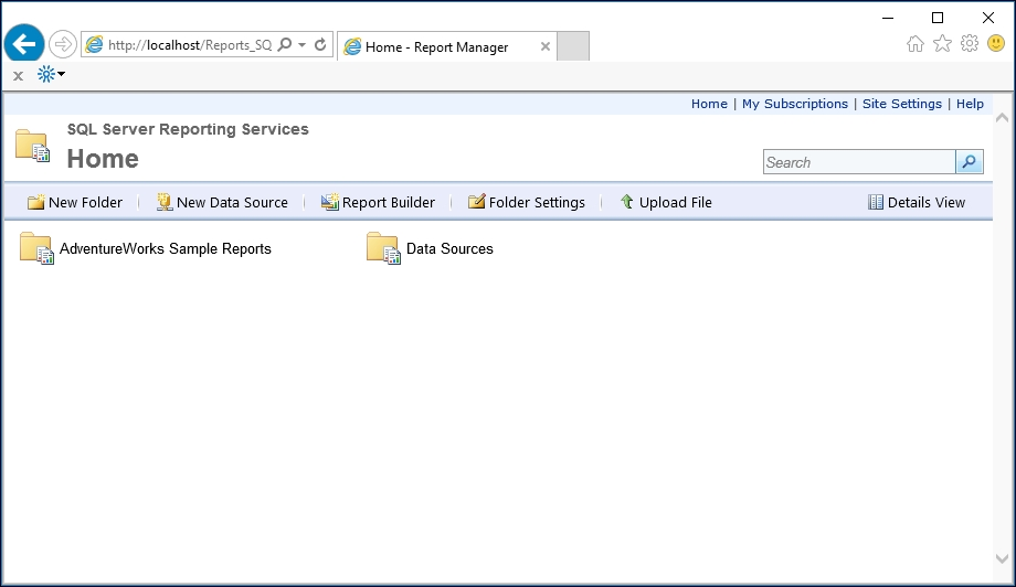 Exploring the new Web Portal - SQL Server 2016 Reporting