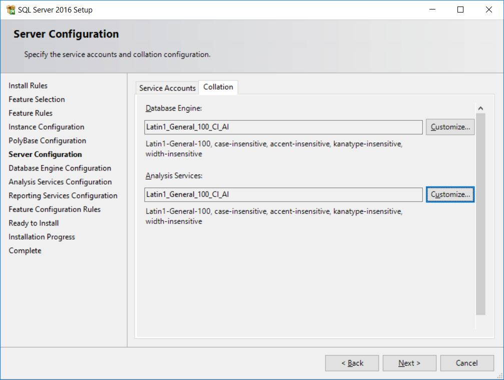 Installing SQL Server 2016 - SQL Server 2017 Integration Services