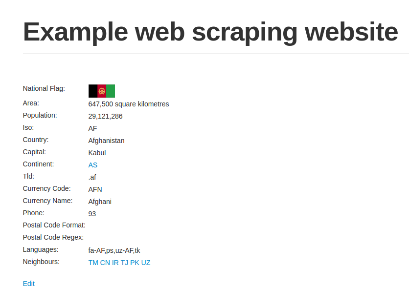 Crawling your first website - Python Web Scraping - Second Edition