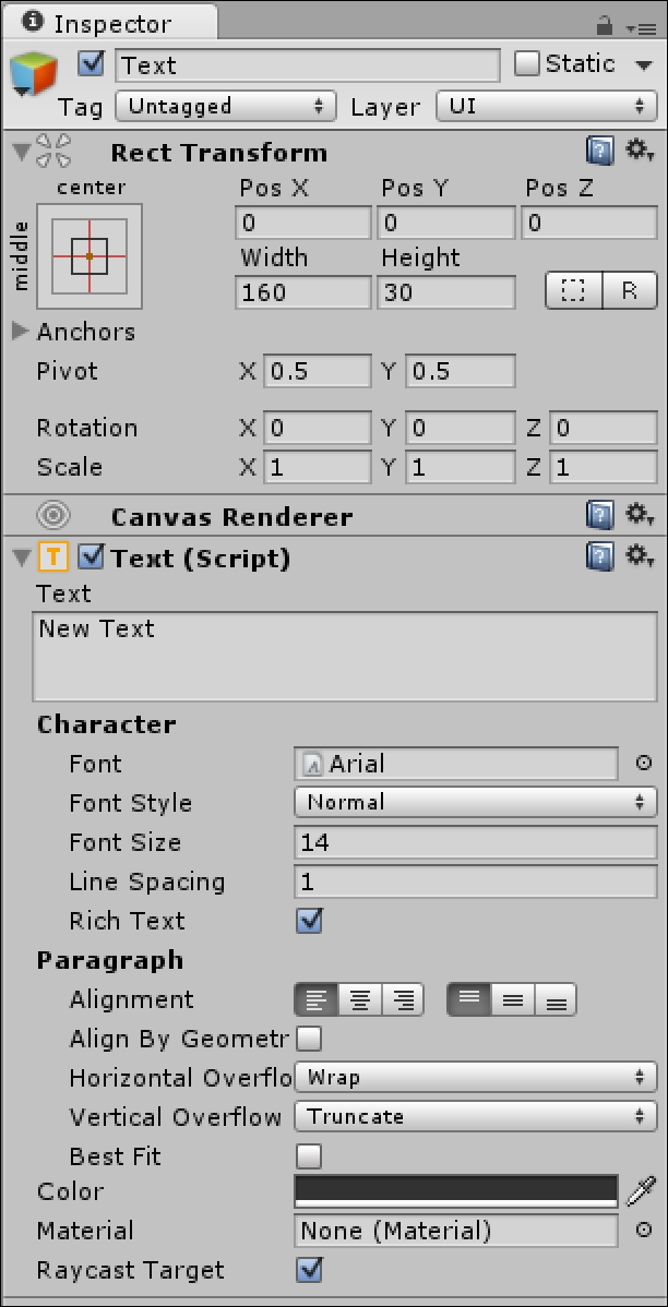 UI Text and Images - Mastering Unity 2D Game Development - Second