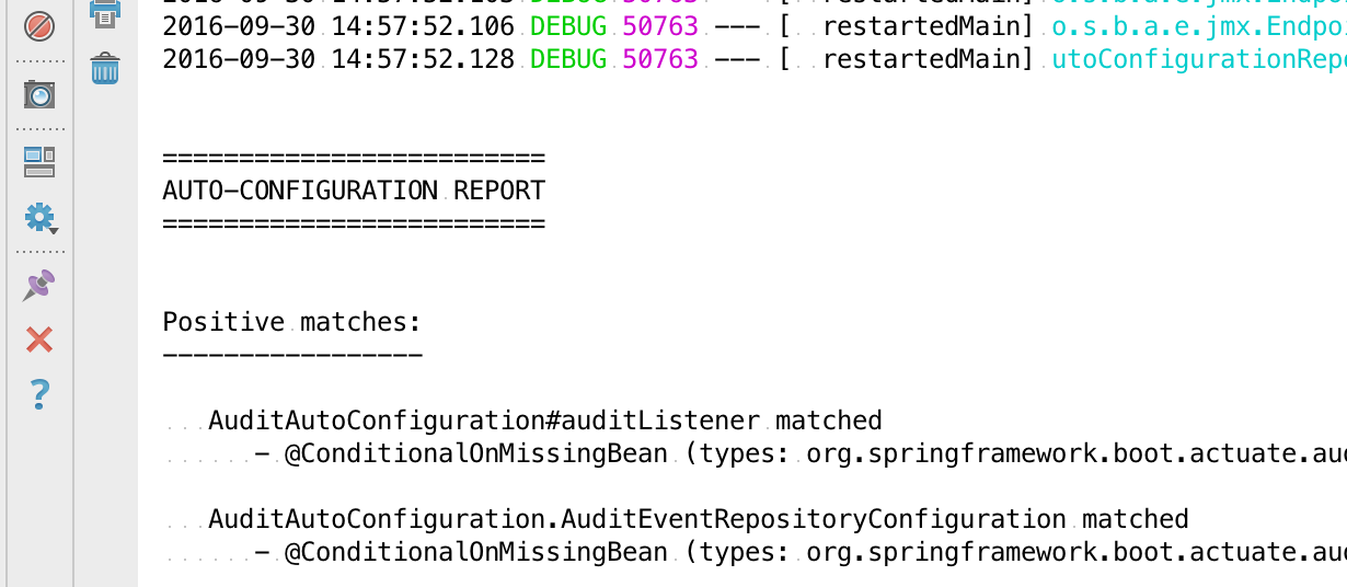 Using Spring Boot's autoconfiguration report - Learning