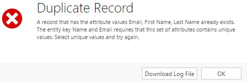 Duplicate detection using alternate keys - Microsoft