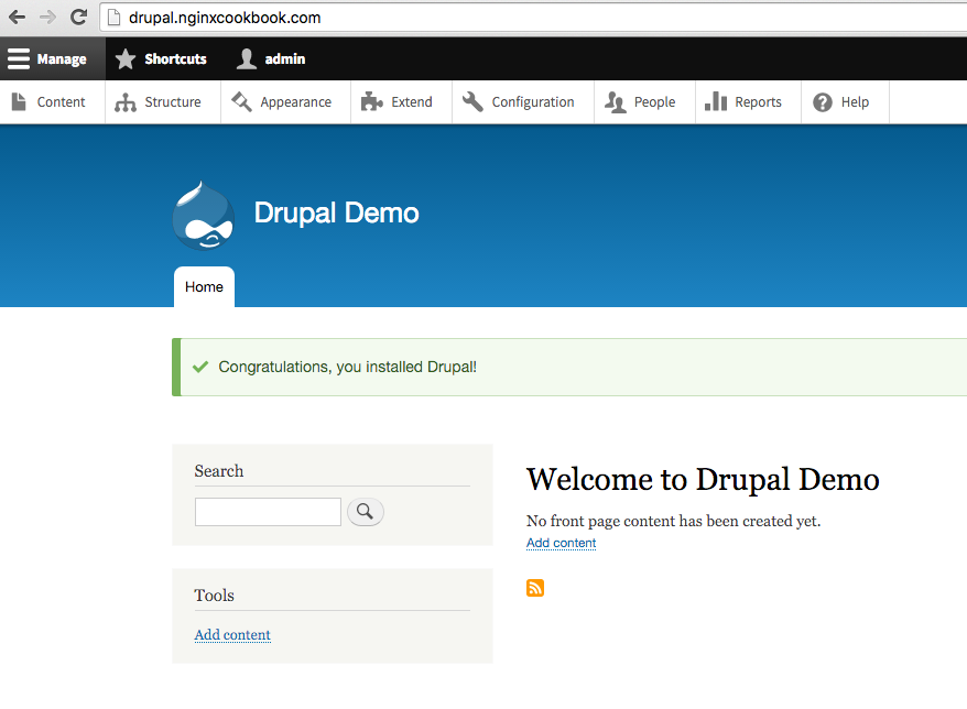Running Drupal using NGINX - NGINX Cookbook