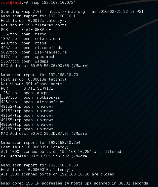 Scanning a subnet - Applied Network Security