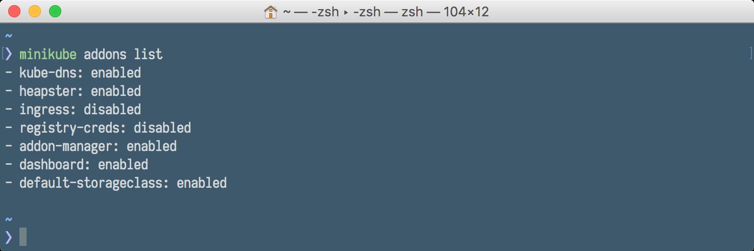 Minikube addons - Docker and Kubernetes for Java Developers