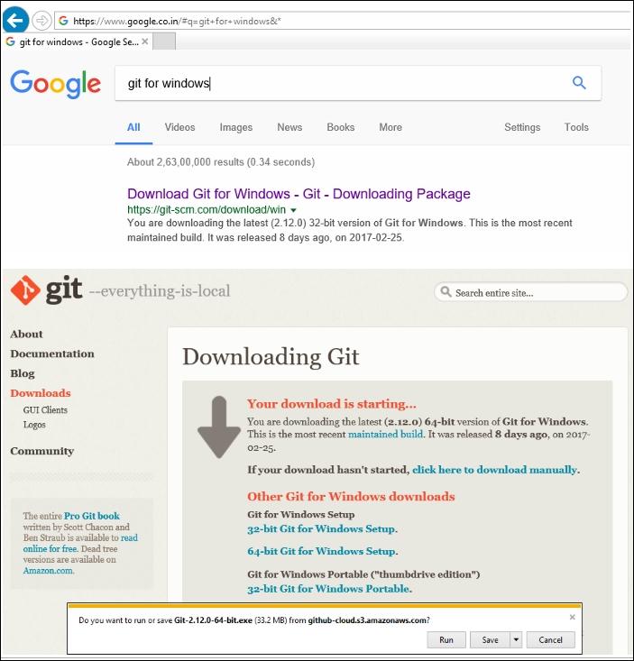 git install windows 8