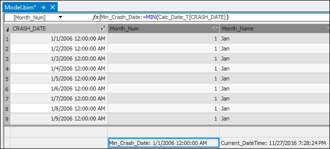 Using the DATEDIFF function - Tabular Modeling with SQL
