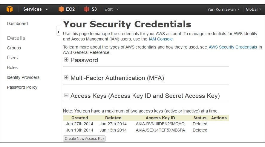 AWS access keys - Ansible for AWS