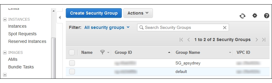 Security groups - Ansible for AWS
