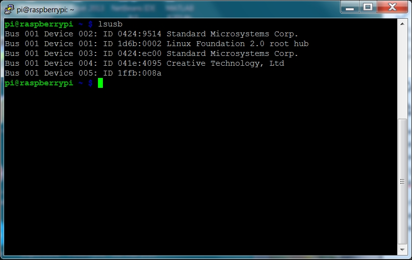 Installing a USB camera on Raspberry Pi Zero - Getting