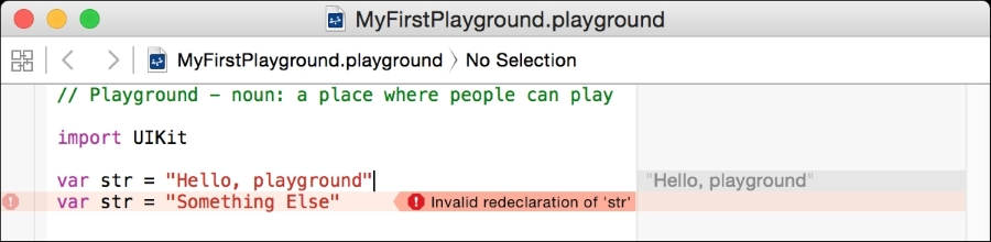 Running our first swift code