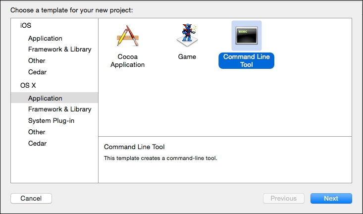 Setting up a command-line Xcode project